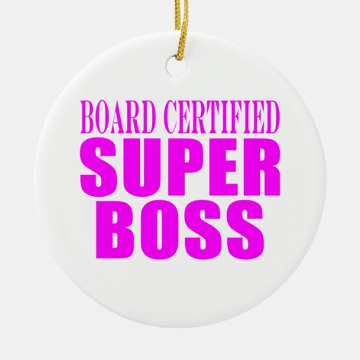 Cool Pink Gifts for Bosses : Super Boss Christmas Tree Ornaments