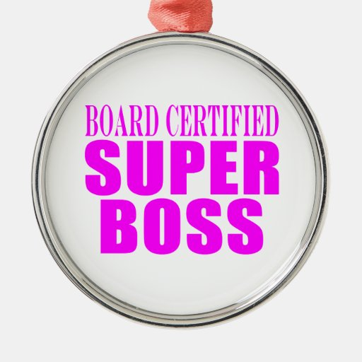 Cool Pink Gifts for Bosses : Super Boss Christmas Ornament
