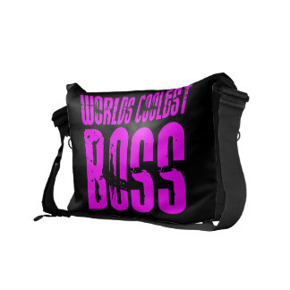 Cool Pink Gifts for Bosses Worlds Coolest Boss Messenger Bag