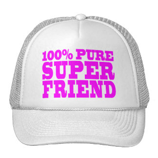 Cool Pink Gifts for Friends : Super Friend Trucker Hat