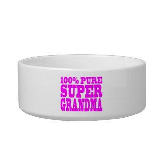Cool Pink Gifts for Grandmas : Super Grandma Pet Food Bowls