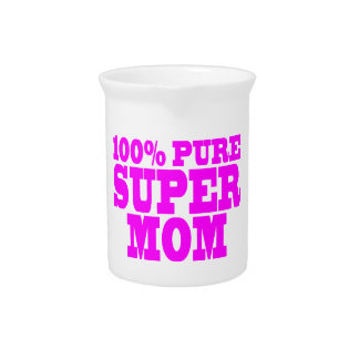 Cool Pink Gifts for Moms : Super Mom Drink Pitchers