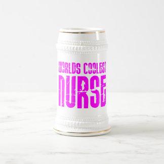Cool Pink Gifts for Nurses : Worlds Coolest Nurse 18 Oz Beer Stein