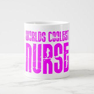 Cool Pink Gifts for Nurses : Worlds Coolest Nurse 20 Oz Large Ceramic Coffee Mug