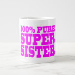 Cool Pink Gifts for Sisters : Super Sister 20 Oz Large Ceramic Coffee Mug