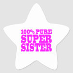 Cool Pink Gifts for Sisters : Super Sister Sticker