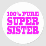 Cool Pink Gifts for Sisters : Super Sister Stickers