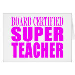 Cool Pink Gifts for Teachers : Super Teacher Greeting Cards