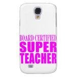 Cool Pink Gifts for Teachers : Super Teacher Galaxy S4 Case