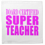 Cool Pink Gifts for Teachers : Super Teacher Cloth Napkins