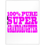 Cool Pink Granddaughters Super Granddaughter Dry-Erase Boards