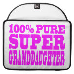 Cool Pink Granddaughters Super Granddaughter Sleeves For MacBook Pro