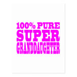 Cool Pink Granddaughters Super Granddaughter Post Card
