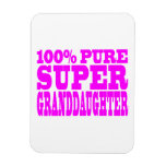 Cool Pink Granddaughters Super Granddaughter Rectangle Magnet