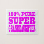 Cool Pink Granddaughters Super Granddaughter Jigsaw Puzzle