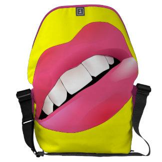 Cool Pink Lips Messenger Bag