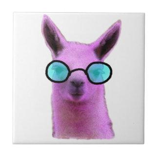 Cool Pink Llama! Ceramic Tile