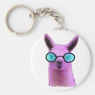 Cool Pink Llama! Keychain