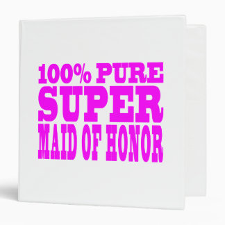 Cool Pink Maids of Honor : Super Maid of Honor Binder