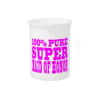Cool Pink Maids of Honor Super Maid of Honor Drink Pitcher