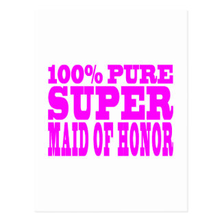 Cool Pink Maids of Honor : Super Maid of Honor Postcard