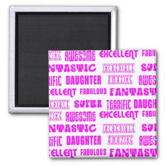Cool Pink Modern Design 4 Daughters Positives Refrigerator Magnets