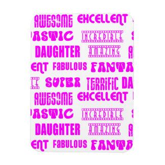 Cool Pink Modern Design 4 Daughters Positives Rectangular Magnet