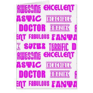 Cool Pink Modern Design 4 Doctors  Positive Words Card