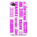 Cool Pink Modern Design 4 Grandmothers Positives iPhone 4 Case