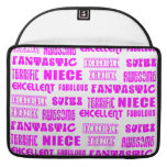 Cool Pink Modern Design 4 Nieces Positives Words Sleeves For MacBooks