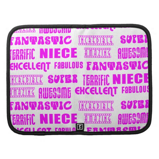 Cool Pink Modern Design 4 Nieces Positives Words Organizers
