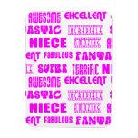 Cool Pink Modern Design 4 Nieces Positives Words Rectangle Magnet