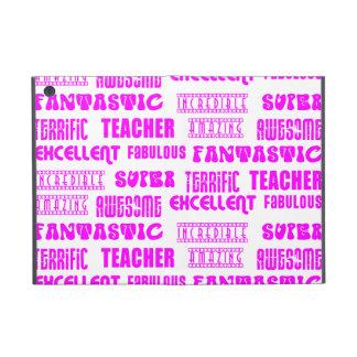Cool Pink Modern Design 4 Teachers  Positive Words iPad Mini Covers