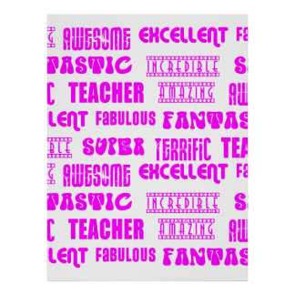 Cool Pink Modern Design 4 Teachers  Positive Words Posters