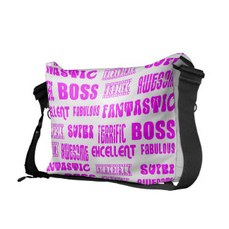 Cool Pink Modern Design for Bosses Positive Words Courier Bags