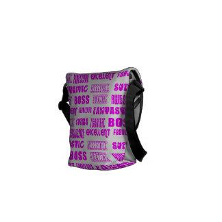 Cool Pink Modern Design for Bosses Positive Words Courier Bag