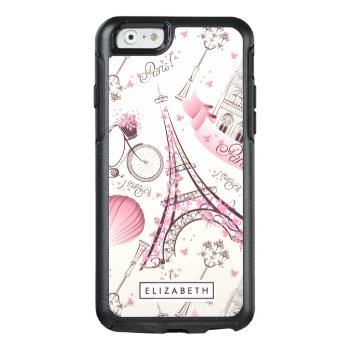 Cool Pink Paris Eiffel Tower Modern Otterbox Case by girlygirlgraphics at Zazzle