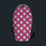 "Cool Pink Polka Dot Pattern Messenger Bag<br><div class=""desc"">Cool Pink Polka Dot Pattern The Perfect Way To Show Off Your Custom Style.A Fun Design For Anyone Who Loves Custom Design Styles</div>"