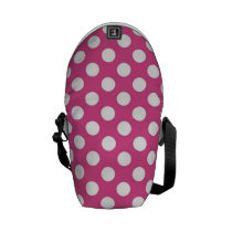 Cool Pink Polka Dot Pattern Messenger Bag