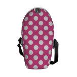 Cool Pink Polka Dot Pattern Messenger Bags