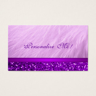 Cool Pink Purple Girly Glitter / House-of-Grosch Business Card
