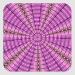 Cool Pink Purple Tunnel Fractal Pattern Gifts Stickers