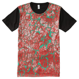 Cool Pink Red Green Abstract Pattern All-Over Print Shirt