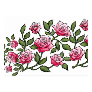 Cool Pink Rose Floral Large Business Cards (Pack Of 100)
