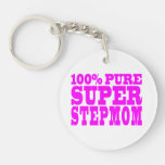 Cool Pink Stepmoms : Super Stepmom Key Chain