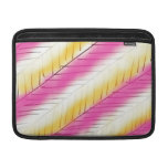 Cool Pink Yellow Modern Stripes Pattern Sleeves For MacBook Air