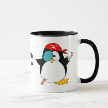 Cool Pirate Penguin Mug
