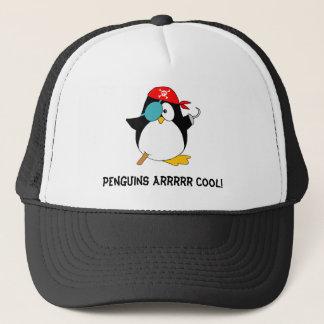 Cool Pirate Penguin Trucker Hat