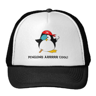 Cool Pirate Penguin Trucker Hat
