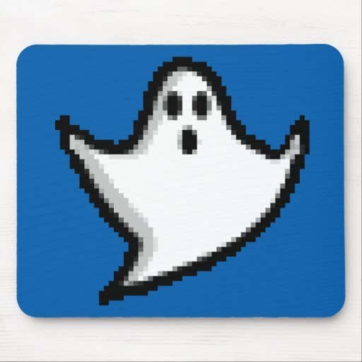 cool pixel ghost mouse pad zazzle. Black Bedroom Furniture Sets. Home Design Ideas